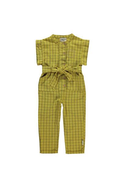 Piupiuchick jumpsuit checkered yellow