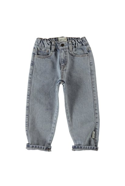 Piupiuchick trouser washed light blue denim
