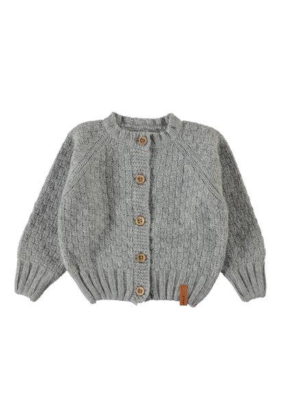 Piupiuchick cardigan baby light grey