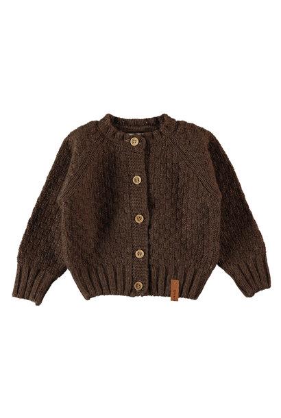 Piupiuchick cardigan baby brown