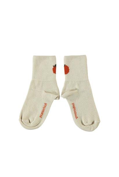 Piupiuchick socks ecru peach