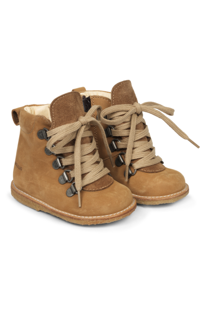 Angulus starter boots with laces camel/ tan