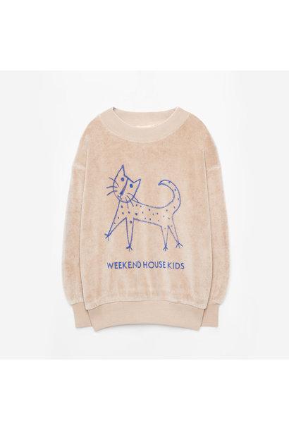 Weekend House Kids sweater cat sand
