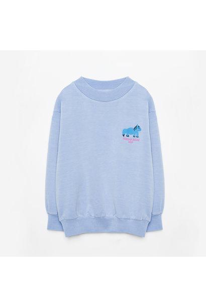 Weekend House Kids sweater horse pastel blue