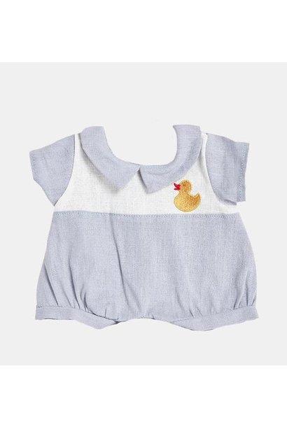 Olli Ella dinkum doll romper cornflower blue ducky