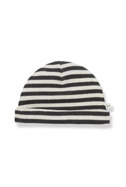 1+ in the family beanie sam alabaster striped