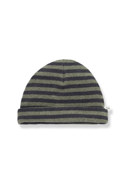 1+ in the family beanie sam olive striped