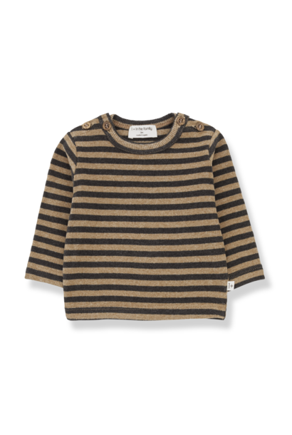 1+ in the family sweater sandro brandy striped