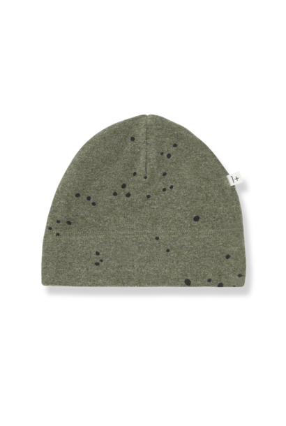 1+ in the family beanie cora olive black dots