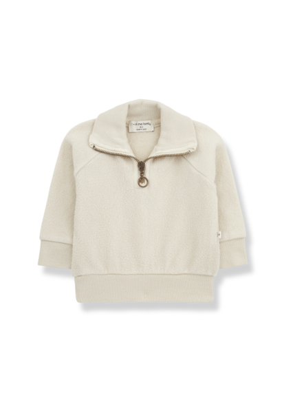1+ in the family sweater with zip william alabaster