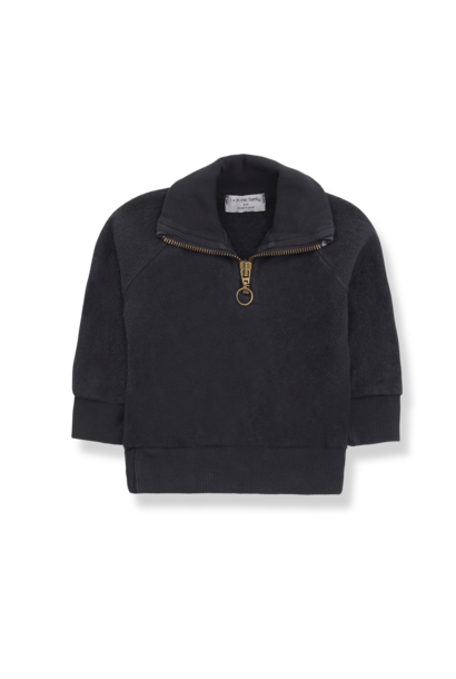 1+ in the family sweater with zip william charcoal