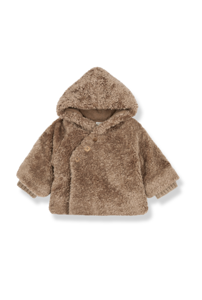 1+ in the family furry jacket flora beige