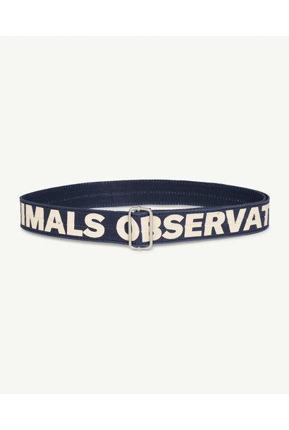 The Animals Observatory belt lizard navy blue