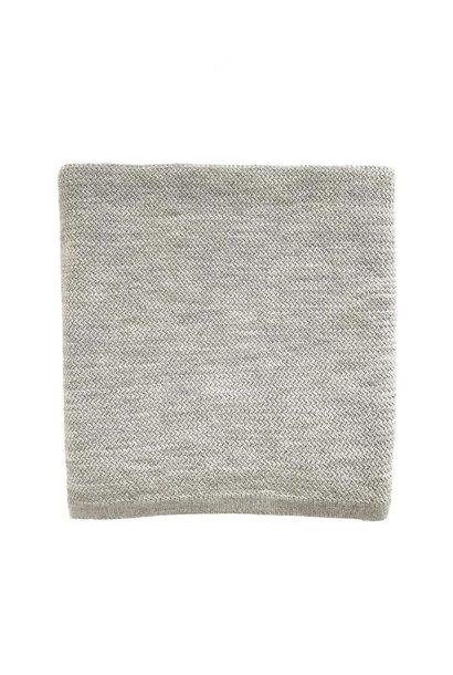 hvid blanket coco grey melange