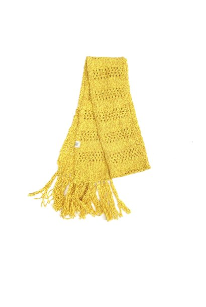 Long live the queen rough scarf yellow twist