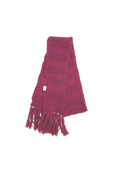 Long live the queen rough scarf wine twist