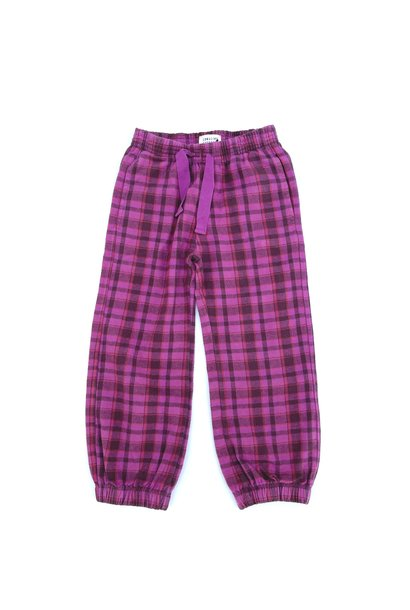 Long live the queen pants check purple