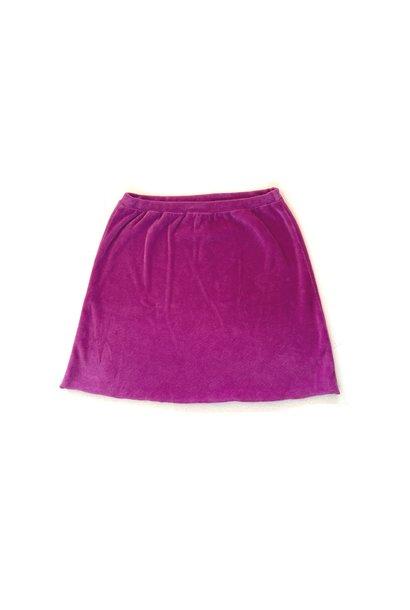 Long live the queen velvet skirt purple