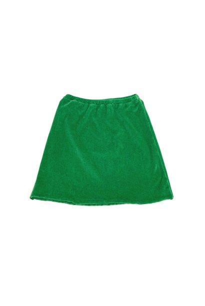 Long live the queen velvet skirt green