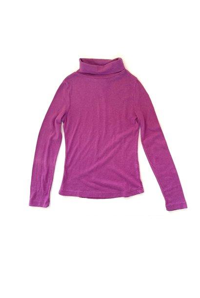Long live the queen turtleneck t-shirt purple