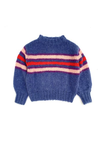 Long live the queen sweater blue stripes