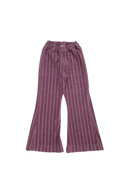 Long live the queen rib pants velvet grape