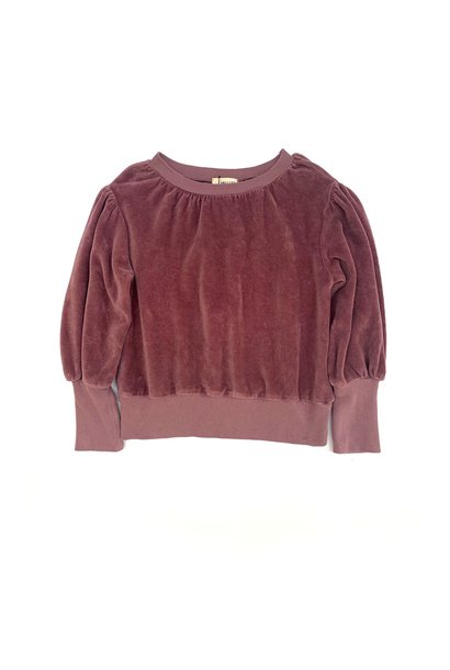 Long live the queen puffed sweater grape