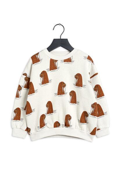 Mini Rodini sweater walrus aop grey