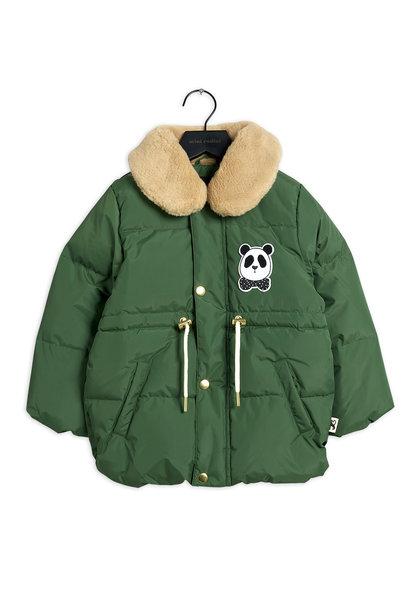 Mini Rodini jacket panda puffer dark green