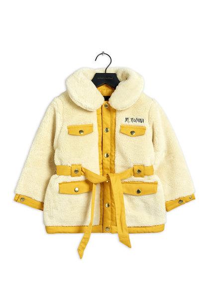 Mini Rodini jacket faux fur offwhite