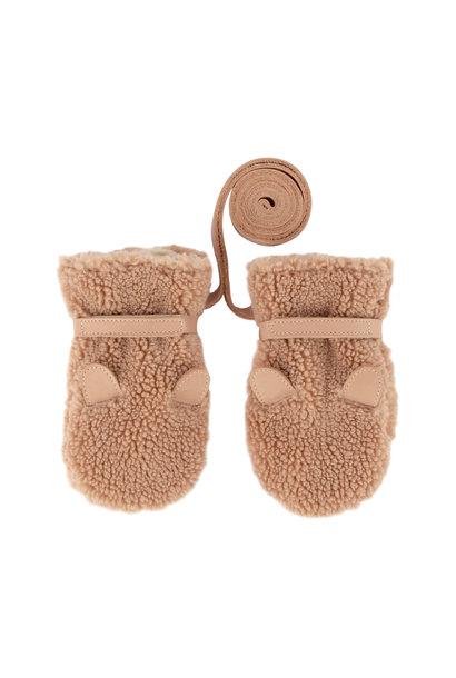 Donsje mittens richy teddy bear light maple curly faux fur
