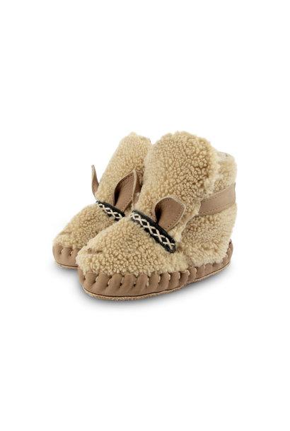 Donsje kapi exclusive lining alpaca beige curly faux fur