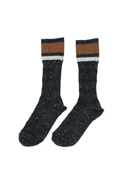Buho socks rib band dark grey