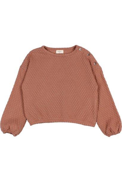 Buho sweater jacquard antic rose