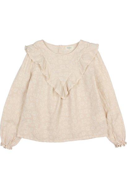 Buho blouse jacquard floral stone
