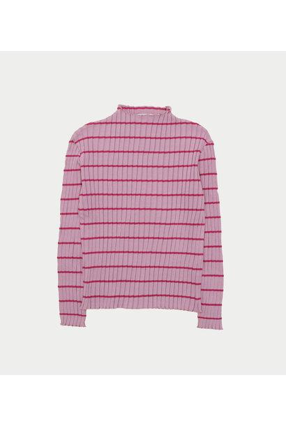 The Campamento longsleeve pink stripes
