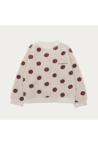 The Campamento sweater teddy with dots