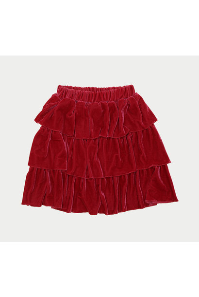 The Campamento velvet skirt