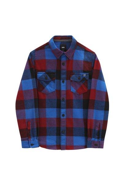 Vans flannel blouse pomegranate/ nautical blue