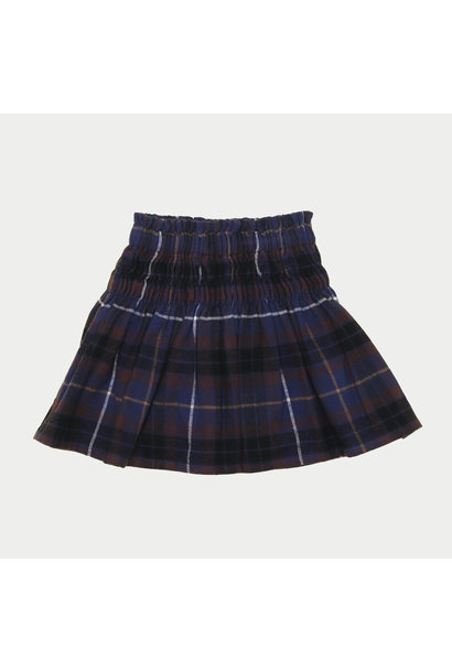 The Campamento checked skirt blue