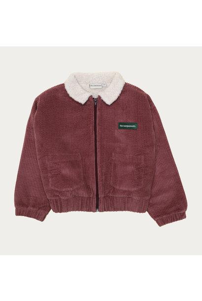 The Campamento corduroy bomber jacket burgundy