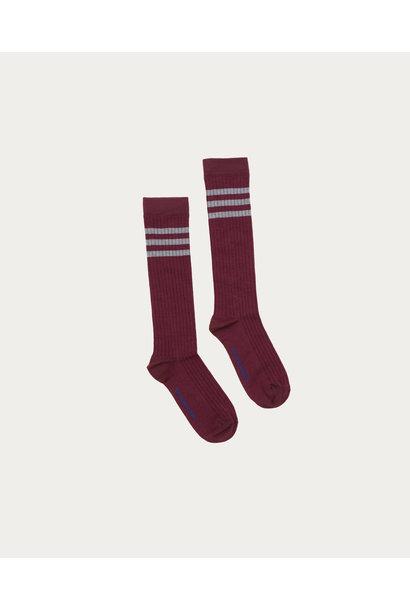 The Campamento socks with stripes