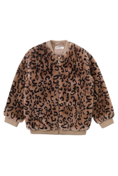 Ammehoela jacket nina taupe black leopard