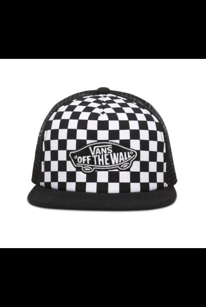 Vans pet classic patch trucker black/ white checker