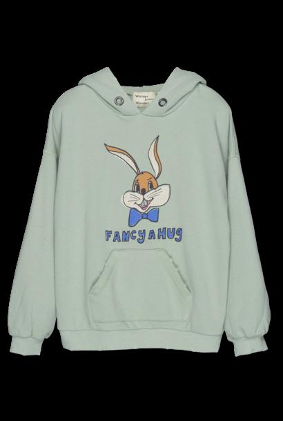 Wander & Wonder hoodie bunny mint