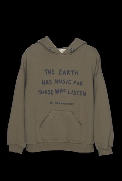Wander & Wonder hoodie music olive