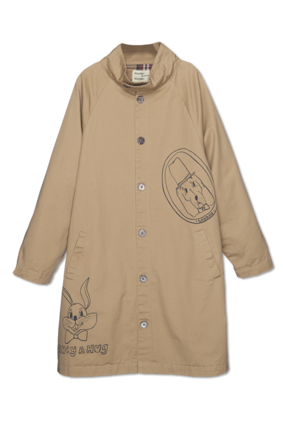 Wander & Wonder trenchcoat printed khaki