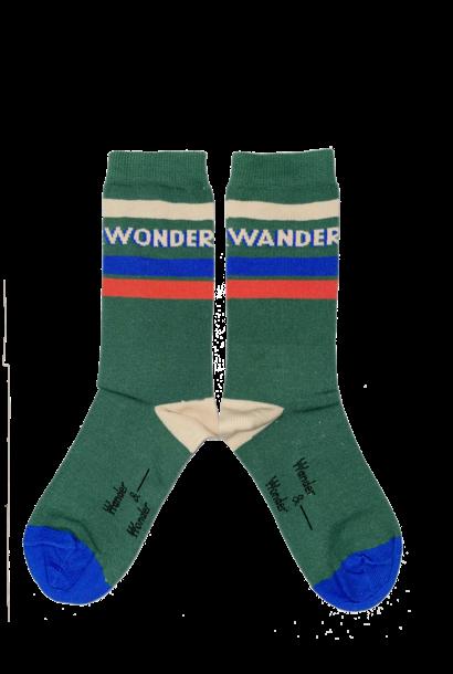 Wander & Wonder socks emerald striped