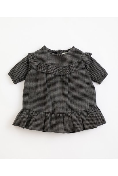 Play Up woven dress vichy frame