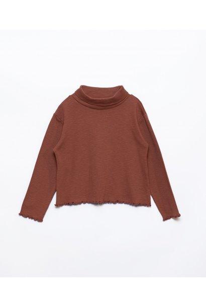 Play Up collar flamé rib sweater sanguine